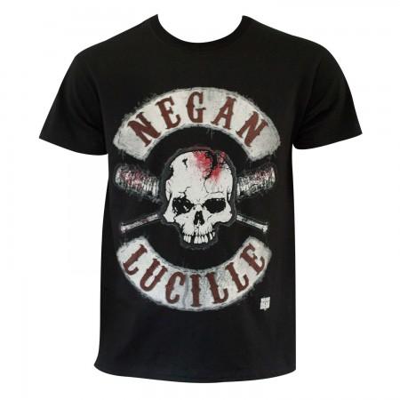 Walking Dead Men's Black Negan And Lucille Logo T-Shirt