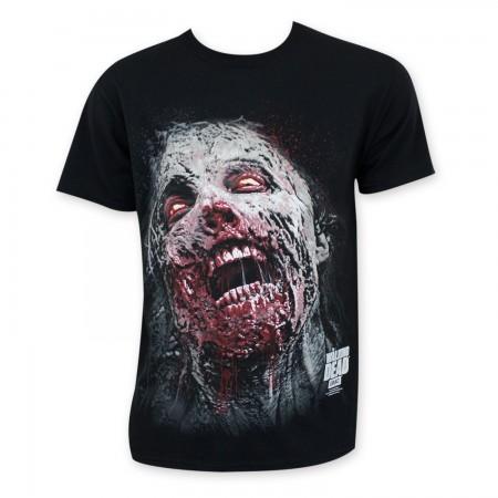Walking Dead Men's Black Zombie Head T-Shirt
