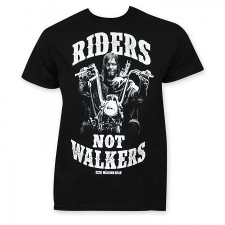 Walking Dead Riders Not Walkers Black T-Shirt