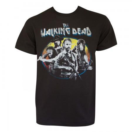 Walking Dead Men's Black Vintage T-Shirt