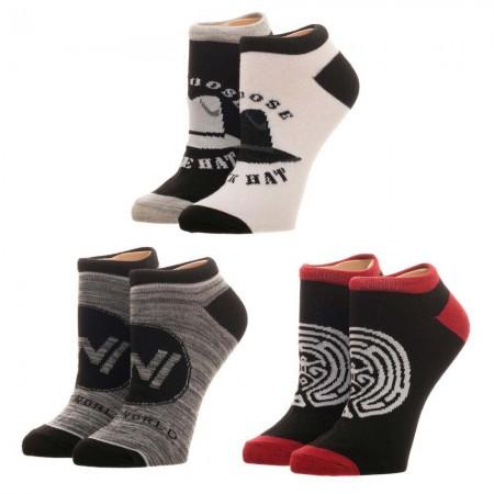 Westworld 3-Pack Ladies Ankle Socks
