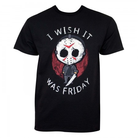 Friday The 13th Men's Black I Wish It Was Friday T-Shirt