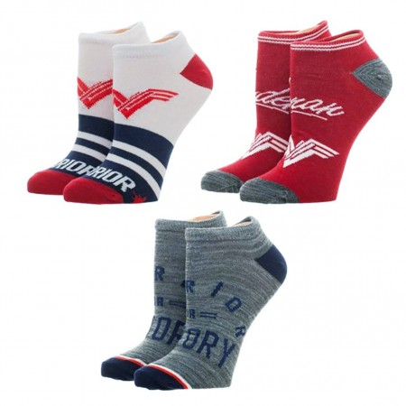 Wonder Woman 3-Pack Ankle Socks