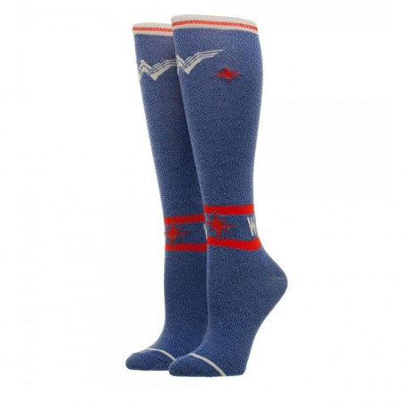 Wonder Woman Knee High Ladies Socks