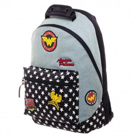 Wonder Woman Denim Patch Backpack