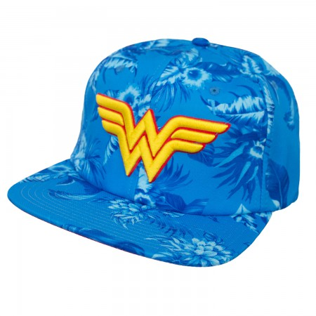 Wonder Woman Floral Adjustable Hat