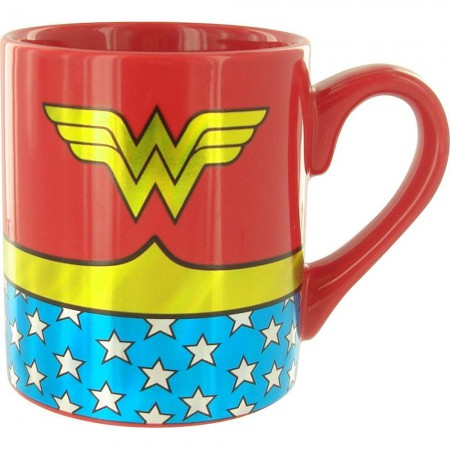 Wonder Woman Gold Foil Logo Costume Mug