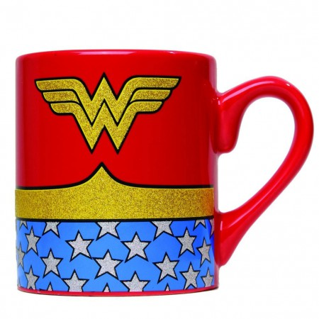 Wonder Woman Ceramic Glitter Logo Mug