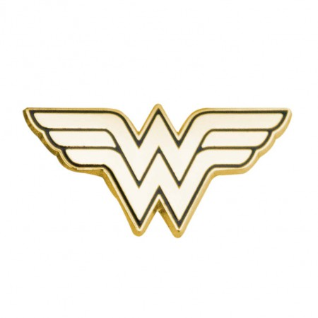 Wonder Woman Logo Gold Lapel Pin