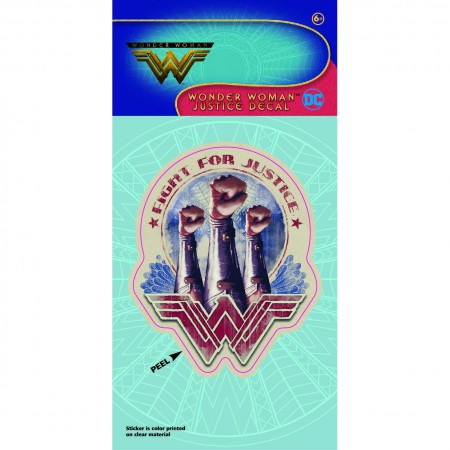Wonder Woman Fight For Justice Comic Decal