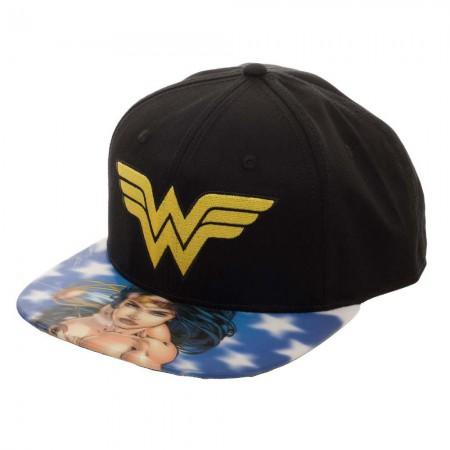 Wonder Woman Lenticular Bill Moving Image Hat