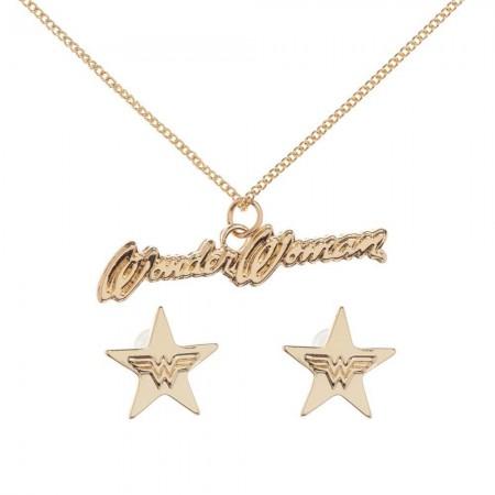 Wonder Woman Earring/Necklace Gift Set