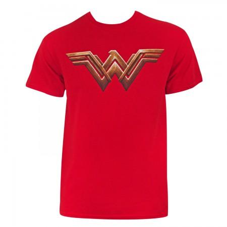 Justice League Men's Red Wonder Woman T-Shirt