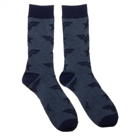 Wonder Woman Logos Men's Crew Socks