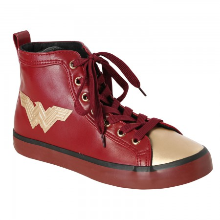 Wonder Woman PU High Top Sneakers