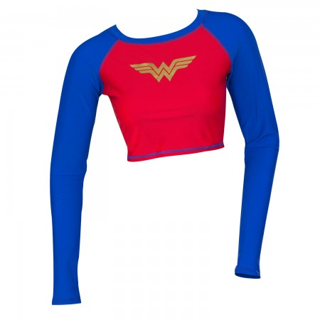 Wonder Woman Two-Tone Rash Guard