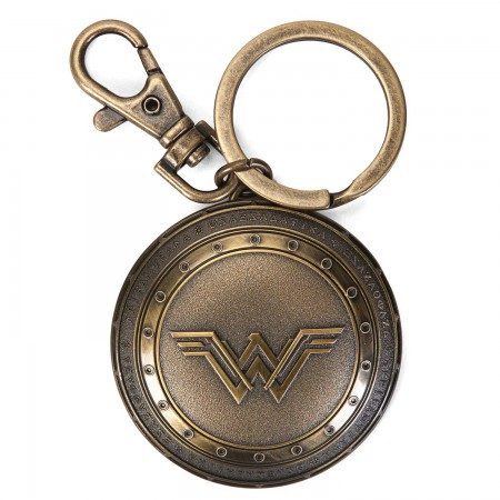 Wonder Woman Shield Logo Keychain