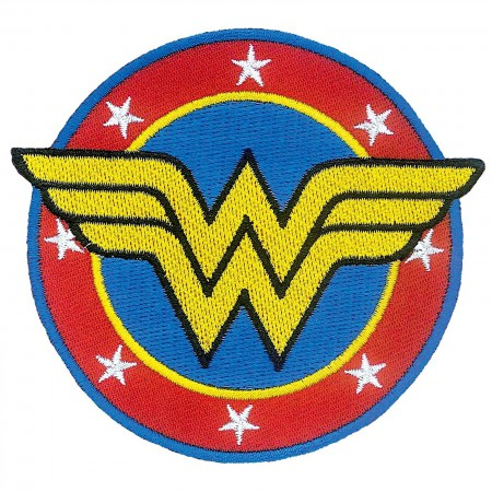 Wonder Woman Comic Logo Iron On Patch