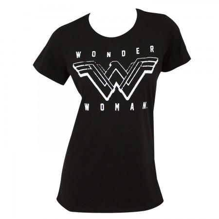 Wonder Woman Women's Black T-Shirt