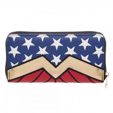 Wonder Woman Zip Around Wallet