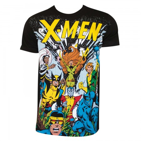 X-Men Men's Black Comic T-Shirt