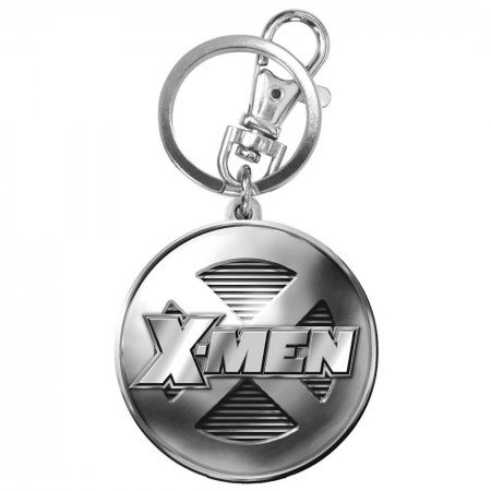 X-Men Logo Marvel Comics Pewter Keychain