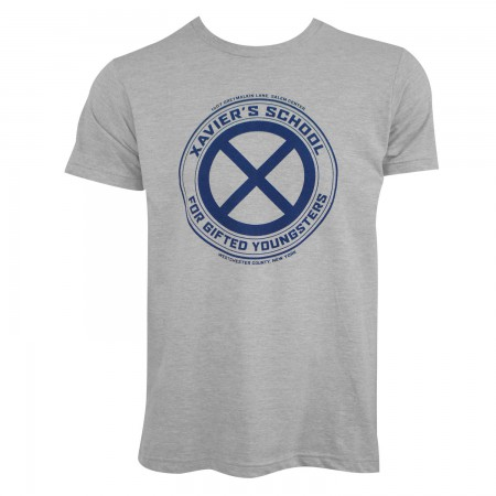 X-Men Men's Grey Xavier's School T-Shirt