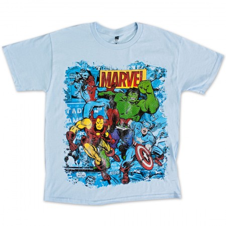 Marvel Team Youth Boys 8-20 Tee Shirt - Blue