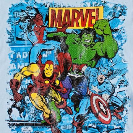 Marvel Team Youth Boys 8-20 Tee Shirt - Blue