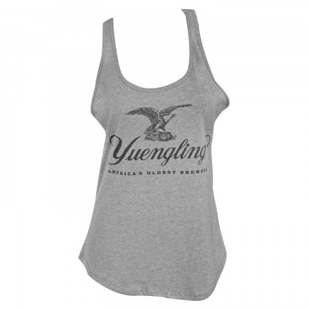 Yuengling Eagle Logo Women's Racer Back Gray Tank Top