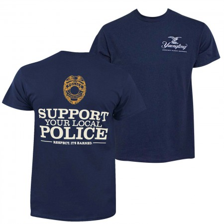 Yuengling Men's Navy Blue Police Bomber T-Shirt