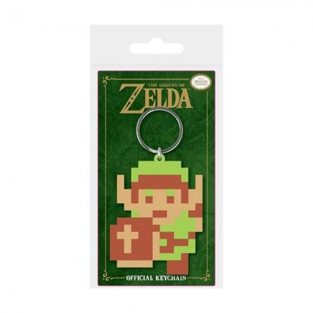 Nintendo Legend Of Zelda Pixel Link Rubber Keychain