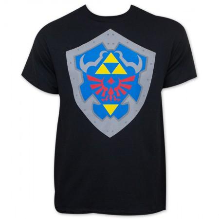 Legend Of Zelda Shield Black T-Shirt