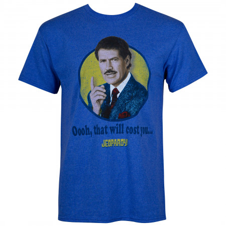 Jeopardy Blue That Will Cost You Alex Trebek T-Shirt