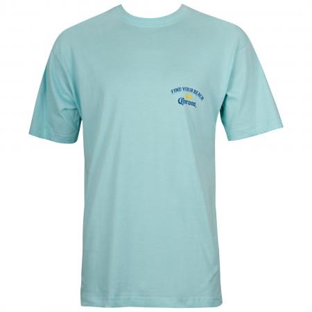 Corona Find Your Beach Blue Tee Shirt