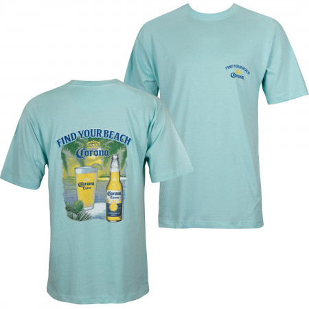 Corona Blue Find Your Beach Men's T-Shirt