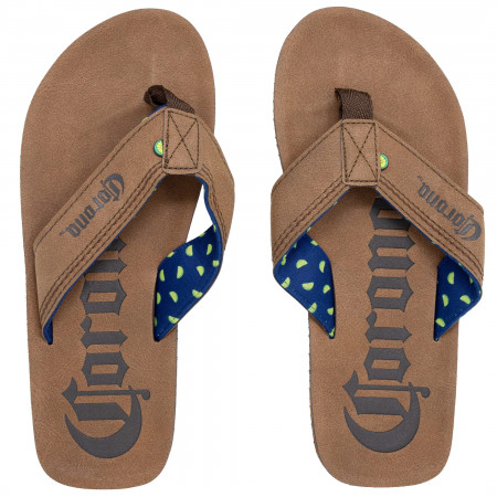 Corona Men's Brown Flip Flops