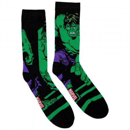 The Incredible Hulk and Avengers 2-Pack Crew Socks