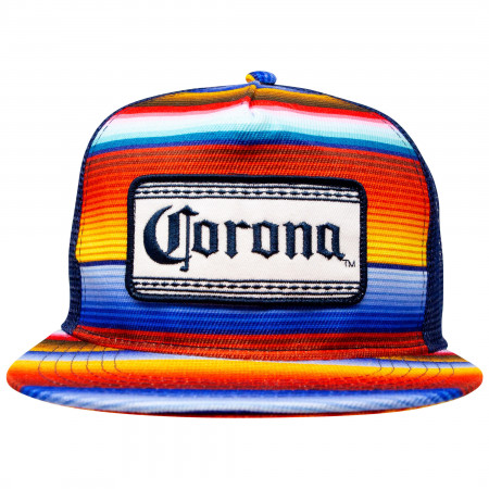 Corona Beer Multi-Colored Adjustable Snapback Mesh Hat.