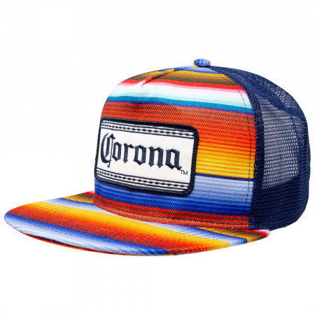 Corona Beer Multi-Colored Adjustable Snapback Mesh Hat.
