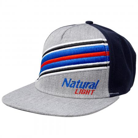 Natural Light Beer Striped Adjustable Snapback Hat