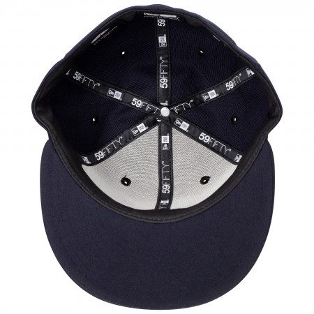 Superman Classic Symbol on Navy New Era 59Fifty Fitted Hat