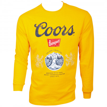 Coors Beer Banquet Gold Long Sleeve Shirt