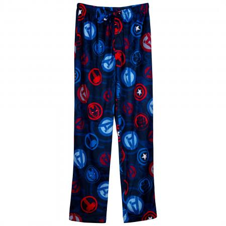 Avengers Team Symbols Fleece Sleep Pants