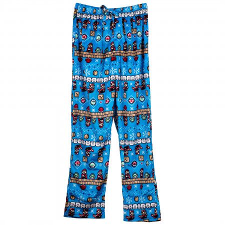 Mario 8-Bit Nintendo Ugly Sweater Fleece Sleep Pants
