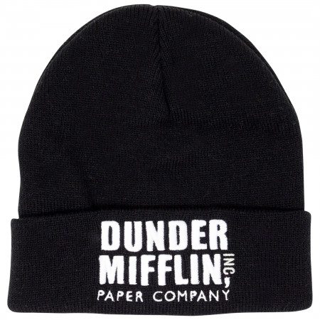 The Office Dunder Mifflin Black Wool Beanie