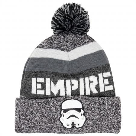 Star Wars Storm Trooper Intarsia Cuff Pom Beanie