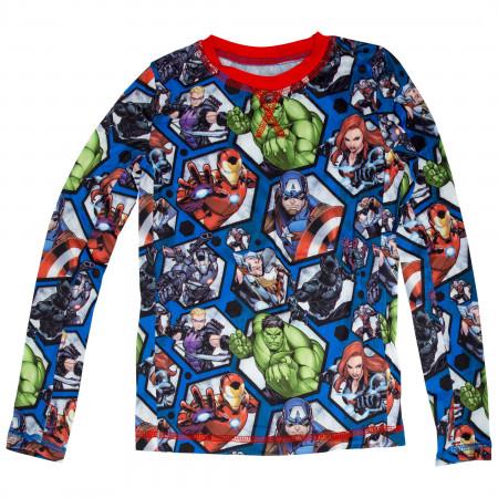 Avengers Marvel Big Boys 2-Piece Pajama Set