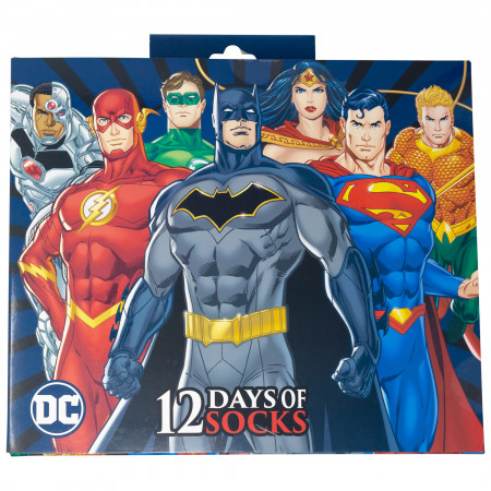 DC Comics 12 Pairs of Socks Gift Giving Box