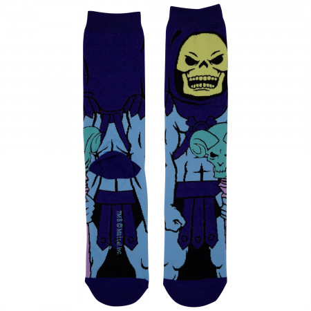 Skeletor 360 Purple Character Crew Socks